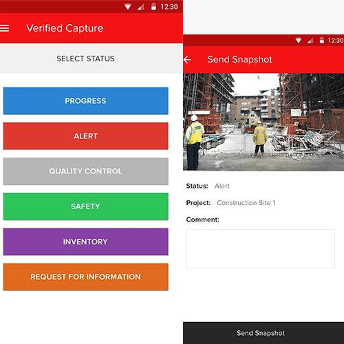 Project management mobile app