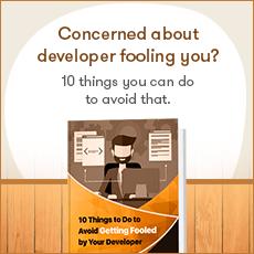 Developer fooling you